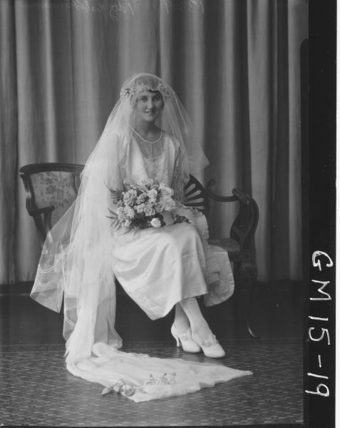 portrait of bride F/L, 'Burrows'