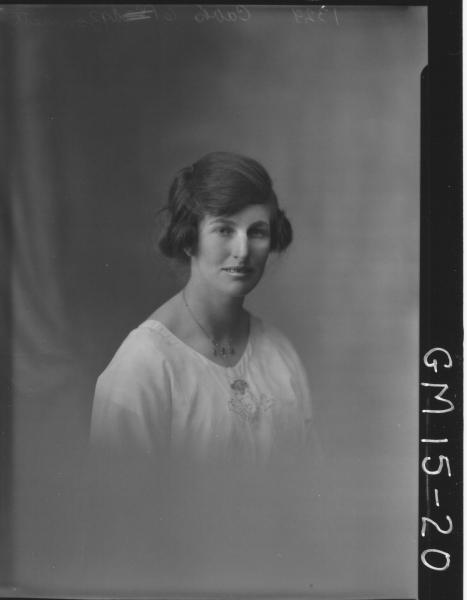 portrait of young woman H/S, 'Bonnett'
