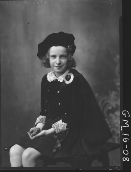young lady in scottish national dress F/L, (Peggy) 'Brown'