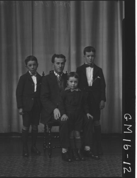 portrait of man and three children F/L, 'Bennett'