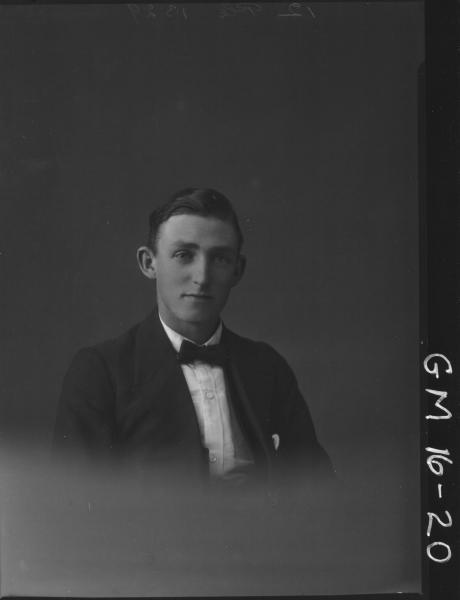 portrait of man H/S, 'Connolly'