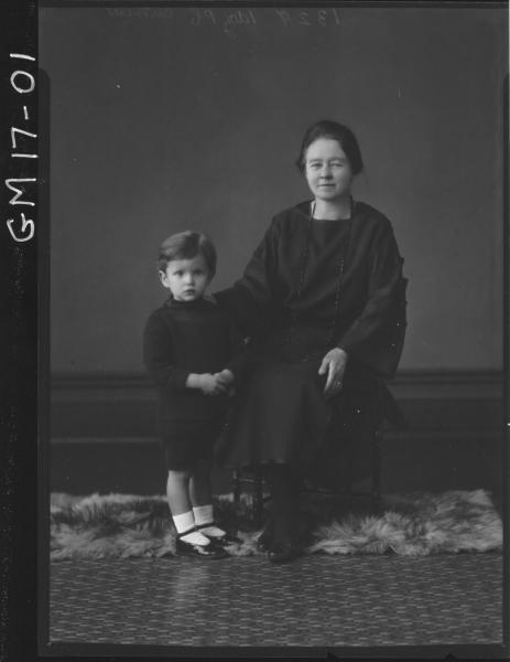 portrait of woman and child, 'Carthew'