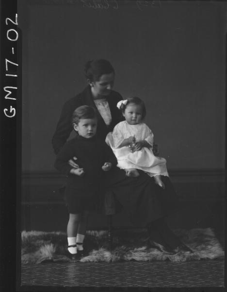 portrait of woman and two children, 'Carthew'