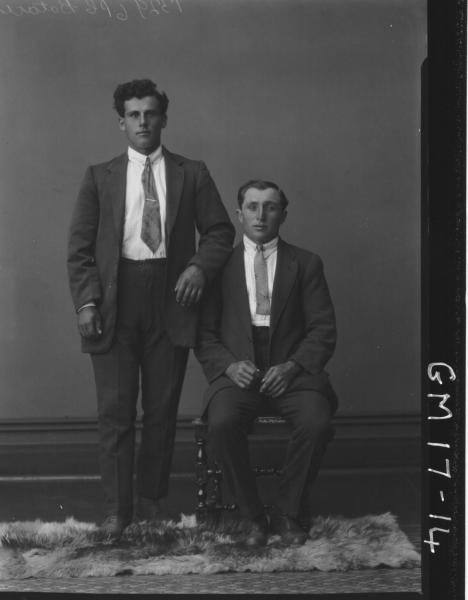 portrait of two young men F/L, 'Botace'