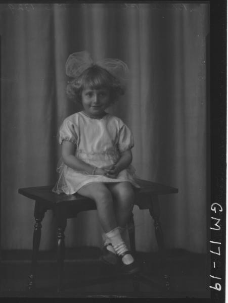 portrait of small girl F/L, 'Bruce'