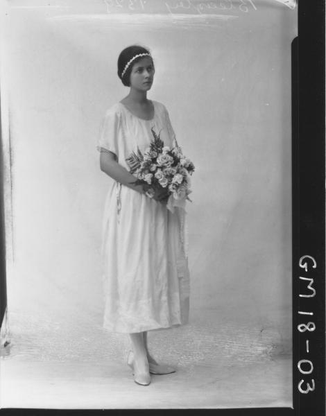 portrait of young woman F/L, 'Bleazley'