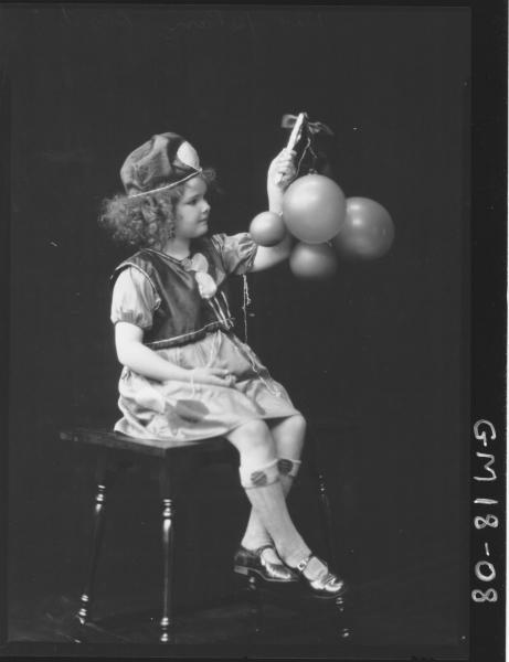 portrait of girl in fancy dress costume F/L, 'Boyd'