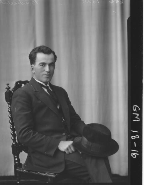 portrait of man H/S, 'Budiscellic'