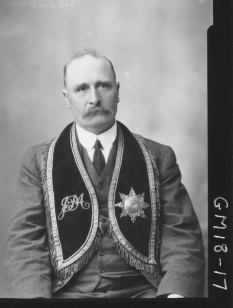 portrait of man wearing masonic regalia H/S, 'Boileau'
