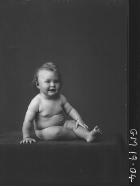 portrait of baby, 'Hall'