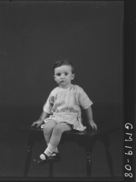 portrait of young child F/L, 'Harse'