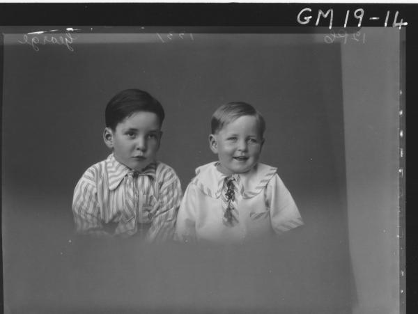 portrait of two small boys H/S, 'George'
