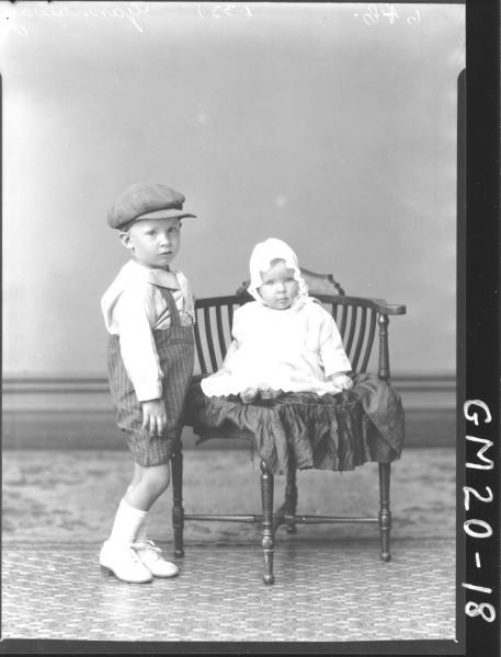 portrait of young boy and baby F/L, Gannaway