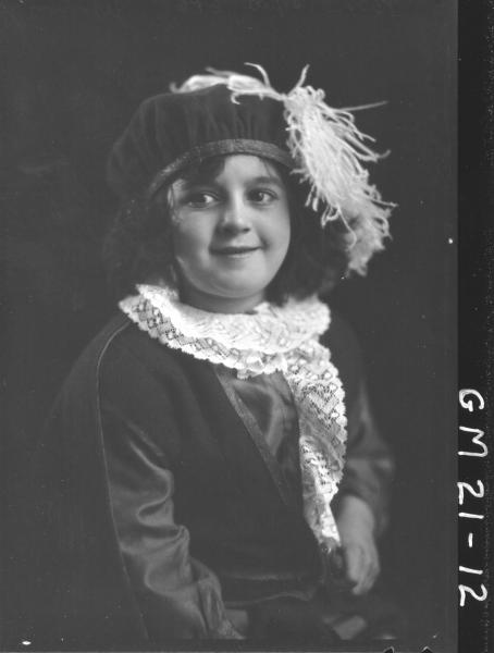 portrait of child in fancy dress H/S, Jennings