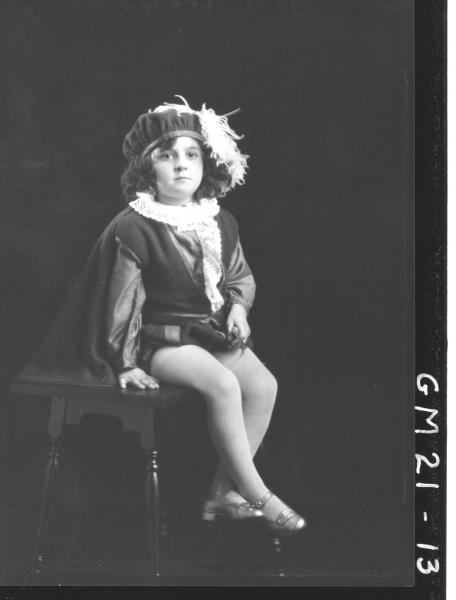 portrait of child in fancy dress F/L, Jennings