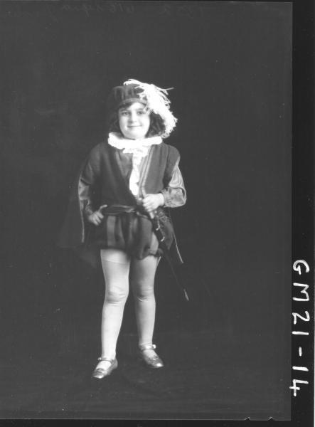 portrait of child in fancy dress F/L, Jennings