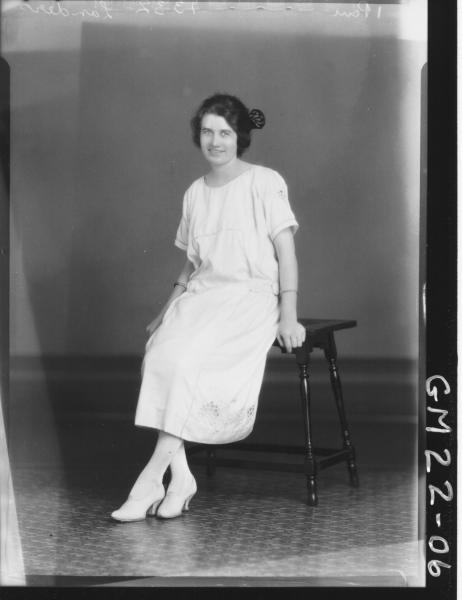 portrait of young woman F/L, Landers/Launders