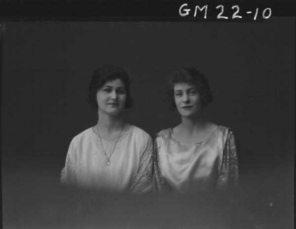 portrait of two young women H/S, Lillis and Breany