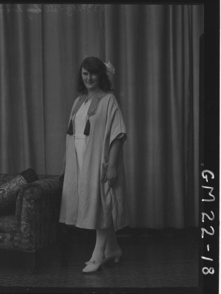 portrait of young woman in robe F/L, Leahy (Ella)