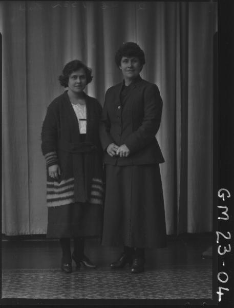 portrait of two women F/L, Lines