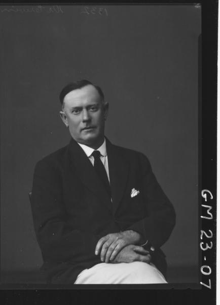 portrait of man H/S, Dr Irwin