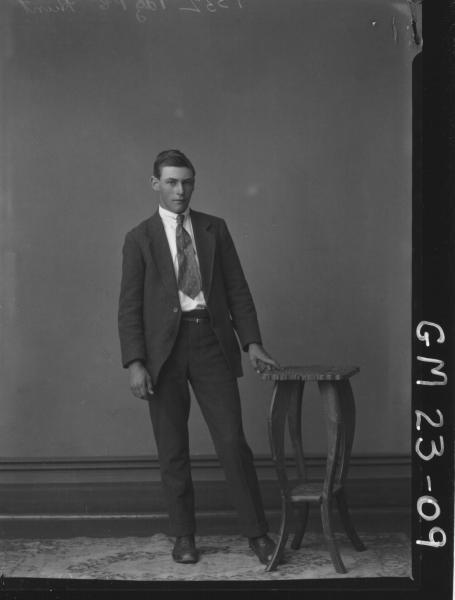 portrait of young man F/L, Hunt