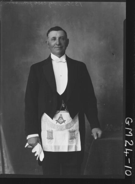 portrait of man in masonic outfit F/L, Johnson