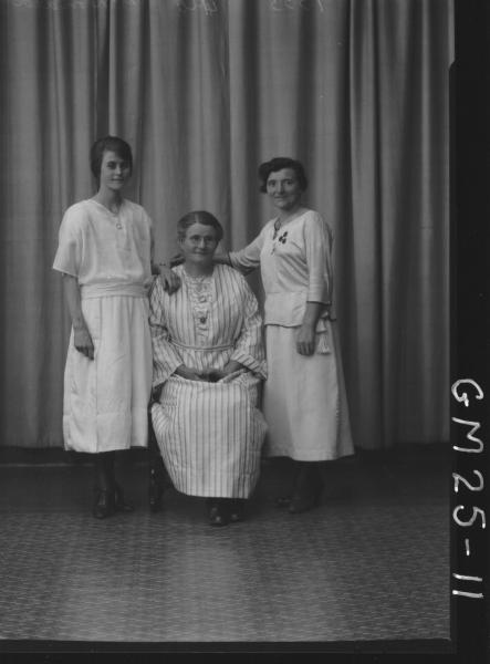 portrait of four generations, three women F/L, McDonald