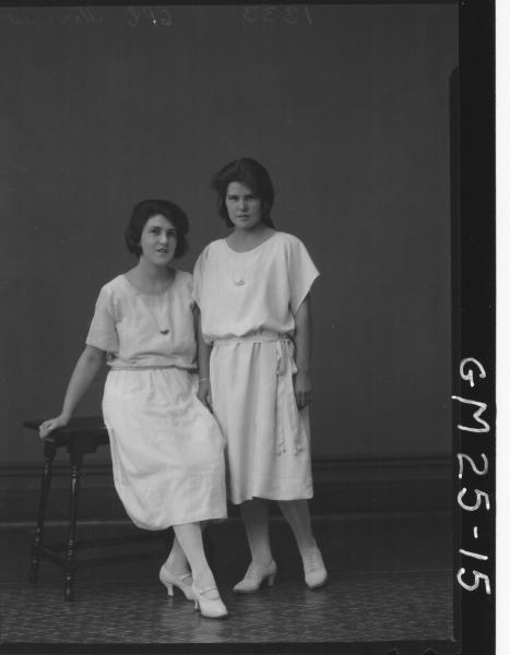 portrait of two young women F/L, Morrow