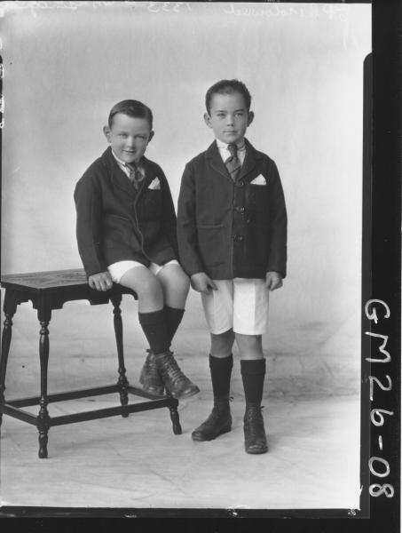 portrait of two young boys F/L, McGinty