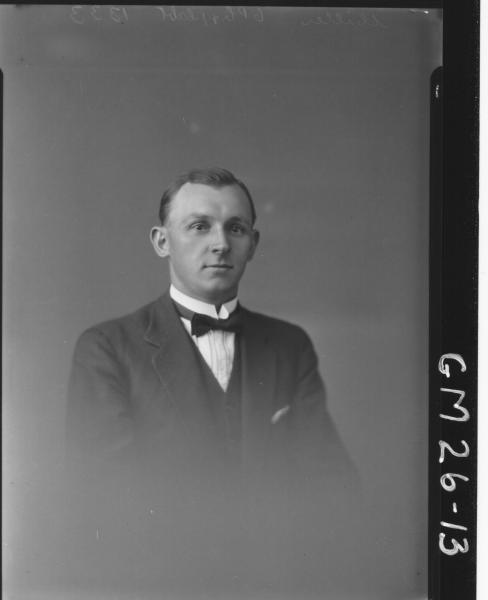 portrait of man H/S, Miller