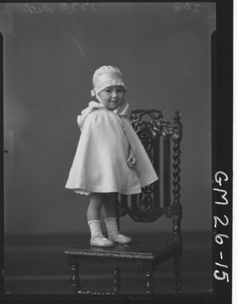 portrait of young child F/L, Mathews