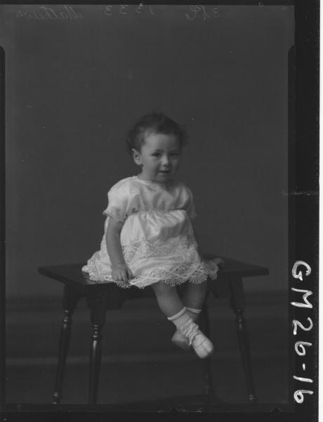 portrait of young child, Mathews