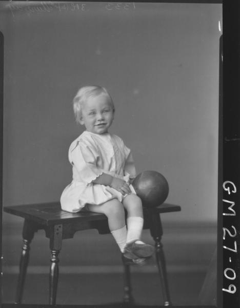 portrait of young child, F/L Murray