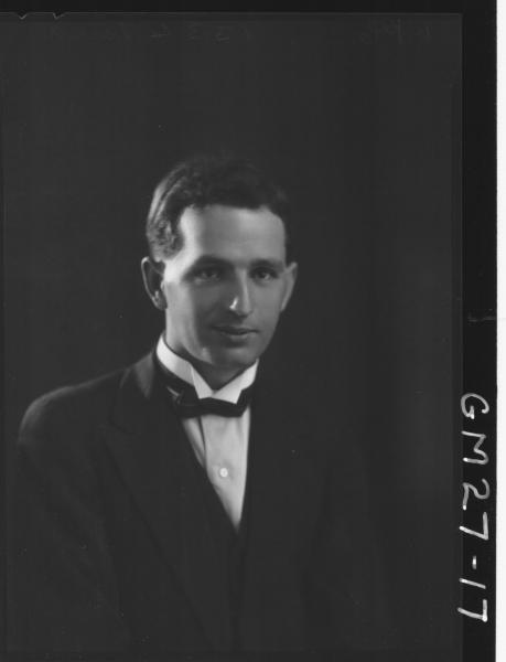 portrait of man, H/S Porra