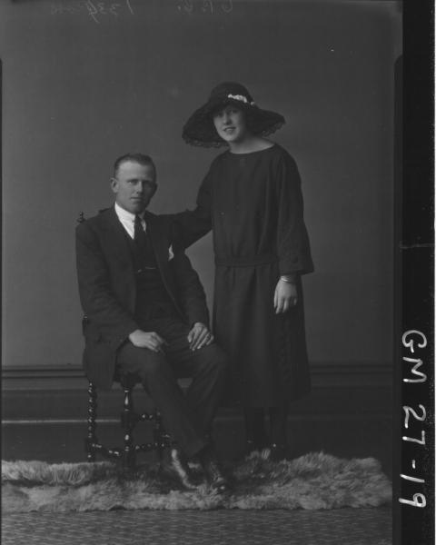 portrait of woman and man, F/L Ross