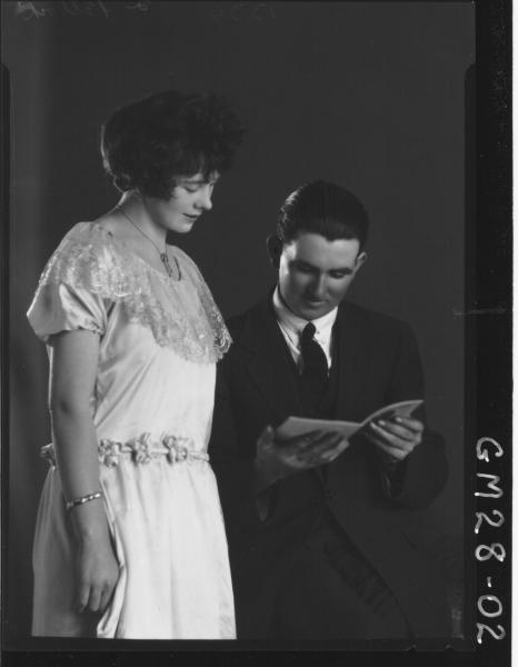 portrait of young woman and man, George POLLOCK & Rita POLLOCK (husband & wife).
