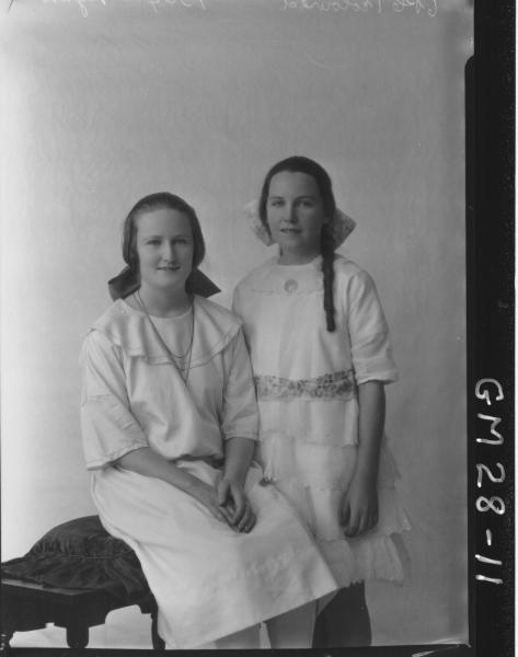 portrait of two young womam, F/L Ryan