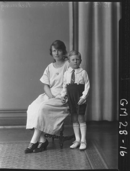 portrait of young woman and boy, F/L Pickering