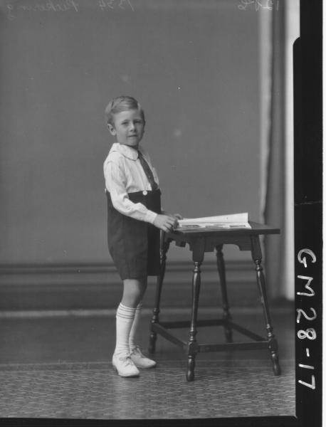 portrait of young boy, F/L Pickering