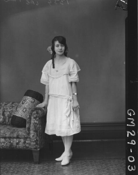 portrait of young woman, F/L Paul