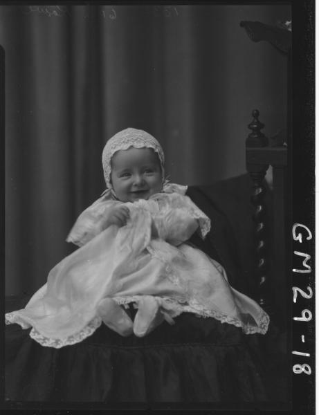 portrait of baby, F/L Rowe