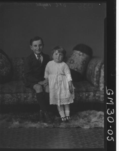 portrait of young boy and girl, F/L Pearce