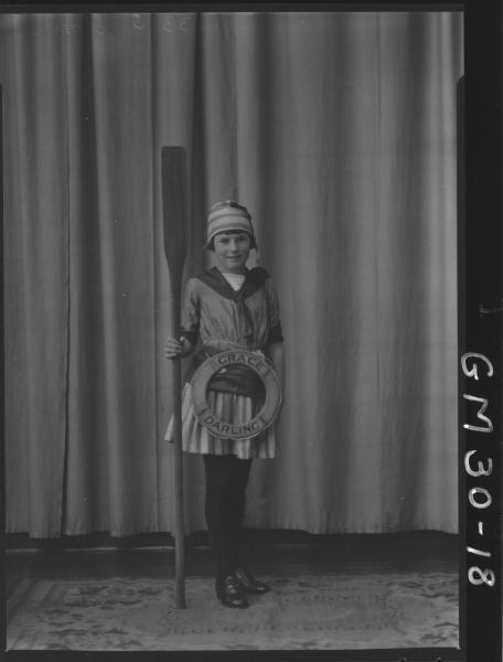 portrait of young girl in fancy dress, F/L Sloan