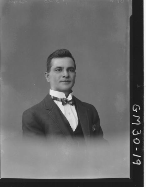 portrait of young man, H/S Segic
