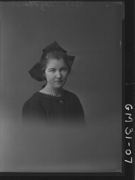 portrait of young woman, H/S Shiel
