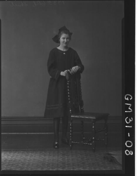 portrait of young woman, F/L Shiel