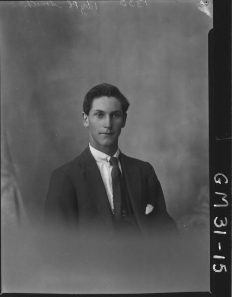 portrait of young man, H/S Smith