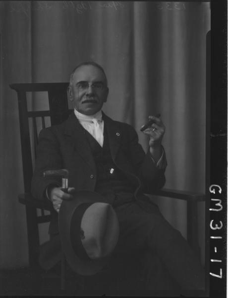 portrait of elderly man, Sharpe