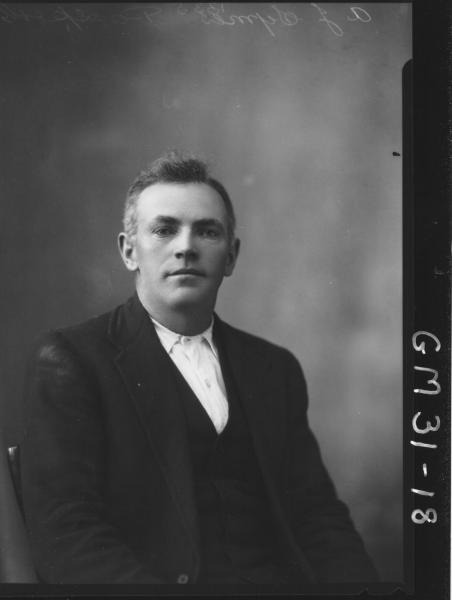 portrait of man Passport, H/S A.J. Symes